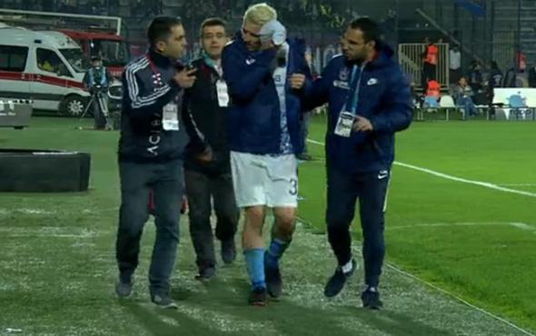 Trabzonsporlu yıldız hastaneye kaldırıldı