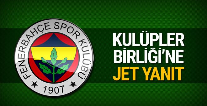 Fenerbahçe'den Kulüpler Birliği'ne tepki