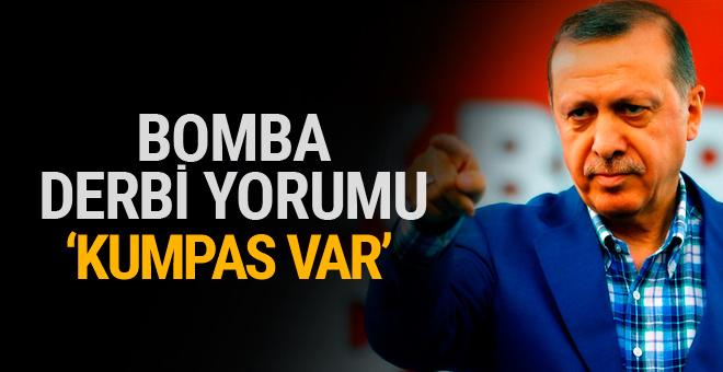 Erdoğan'dan Fenerbahçe-Beşiktaş derbisi için olay açıklama