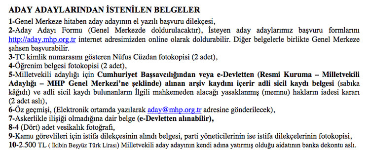 İYİ Parti - MHP - AK Parti milletvekili adaylık şartları CHP'nin ücretine bakın