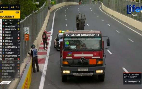 Formula 1 yarışına damga vuran çekici