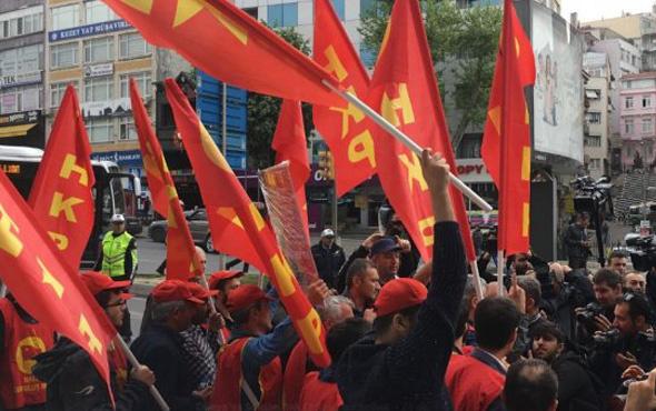 Taksim'e çıkmak isteyenlere polis müdahalesi