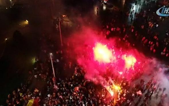 Galatasaray taraftarlarının şampiyonluk kutlamaları