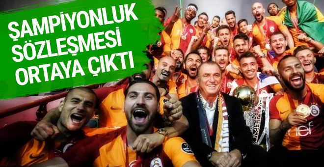 Fatih Terim'in şampiyonluğu getiren sözleşmesi!