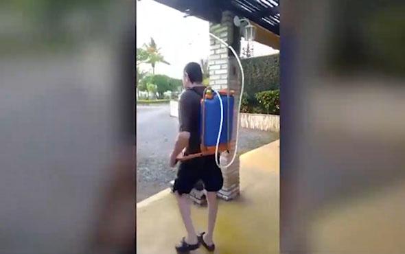 Kavurucu sıcaklara karşı öyle bir yöntem budu ki görenler şaşkına döndü!