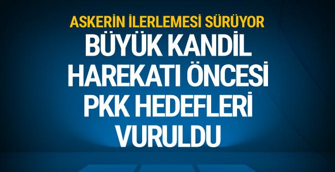TSK: Kandilde 14 PKK hedefi vuruldu