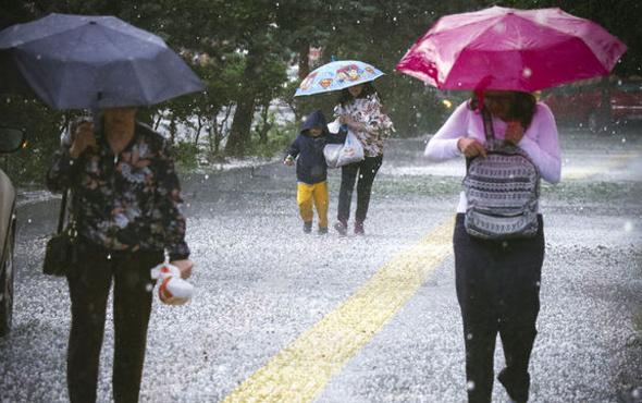 Ankara'yı şiddetli yağış vurdu