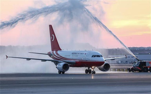 İstanbul Yeni Havalimanı'nda tarihi gün: İlk İnişi Erdoğan yaptı!