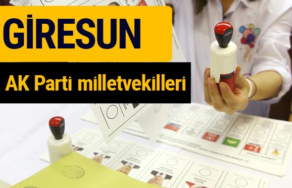 AK Parti Giresun Milletvekilleri 2018 - 27. dönem AKP isim listesi