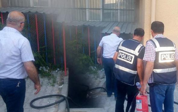 Niğde Adliyesi'nde yangın olay yerinden görüntüler
