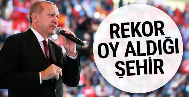Cumhurbaşkanı Erdoğan'ın rekor kırdığı il!