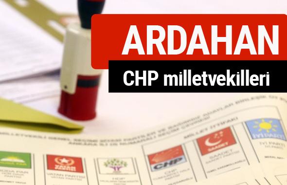 CHP Ardahan Milletvekilleri 2018 - 27. dönem Ardahan listesi