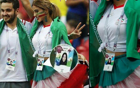 Dünya Kupası'ndaki İranlı kadın taraftar sosyal medyayı salladı!