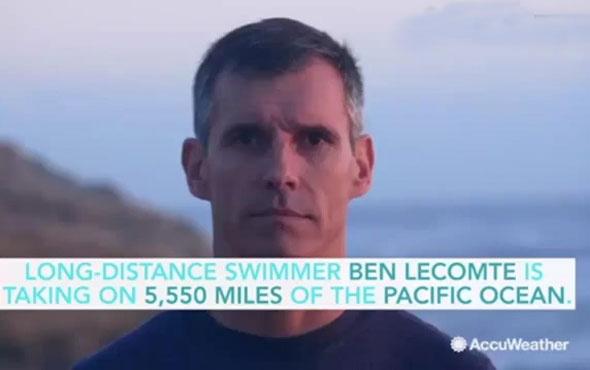 51 yaşındaki yüzücü, Büyük Okyanus'u yüzerek geçme denemesine başladı