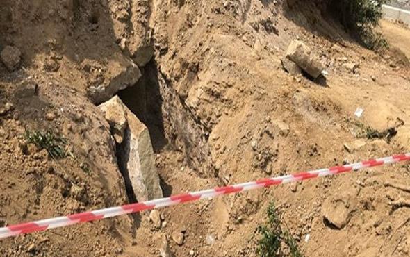 Karabük'te Roma dönemine ait taş sandık bulundu