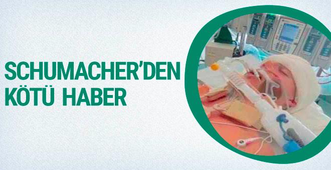 Michael Schumacher'den kötü haber