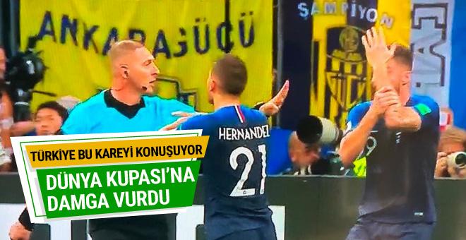 Dünya Kupası finalinde Ankaragücü pankartı