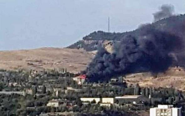 Ankara'da askeri kışlada alevler yükseldi