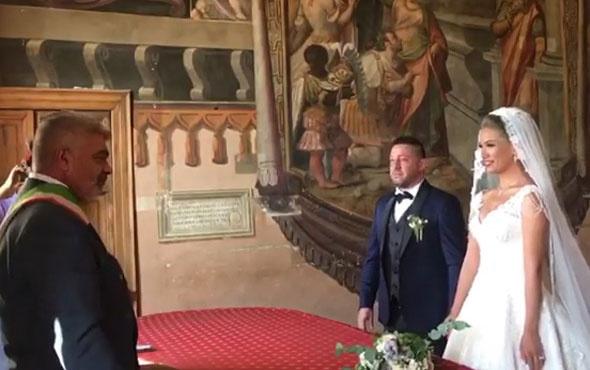 Nihat Kahveci ile Fulya Sever muradına erdi! İşte nikah görüntüleri
