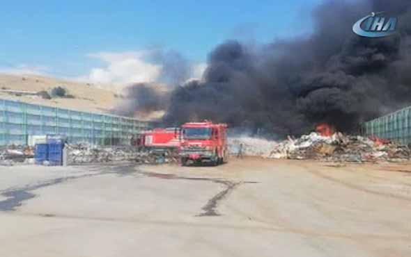 Hurdalık alanda yangın