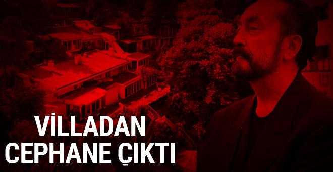 Adnan Oktar'ın villasından cephanelik çıktı