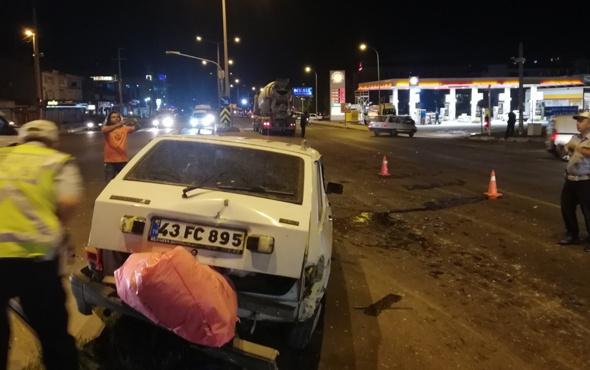 Beton mikseri ile otomobil çarpıştı: 9 yaralı