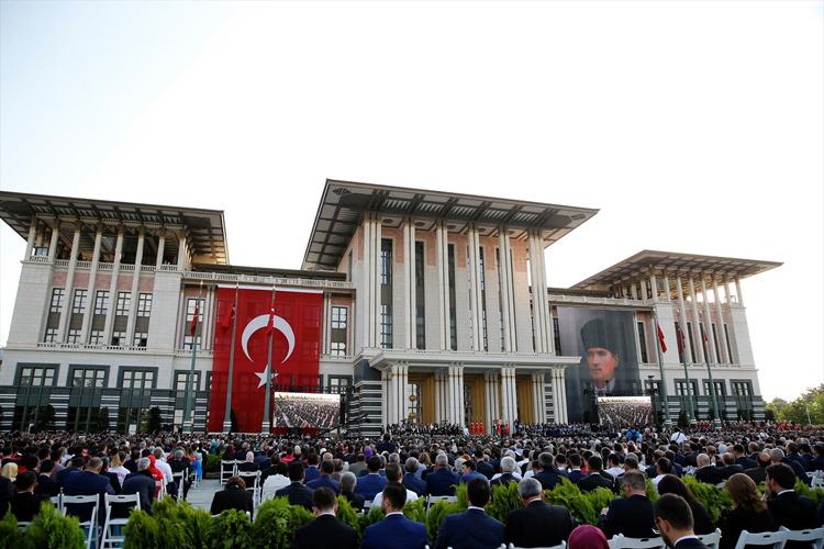 Beştepe'deki törene katılan bomba isimler! Erdoğan gelince...