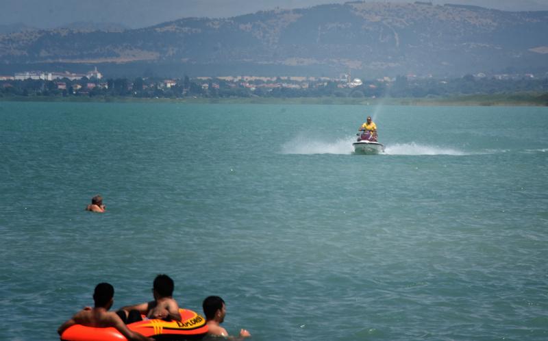 Konya Ovası'nda plaj keyfi! Antalya sahillerini aratmadı