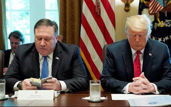 Beyaz Saray toplantısı Pompeo'nun duasıyla başladı
