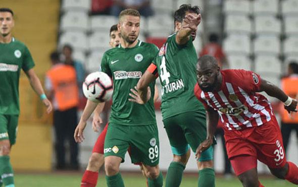 Antalyaspor Atiker Konyaspor maçı sonucu ve özeti