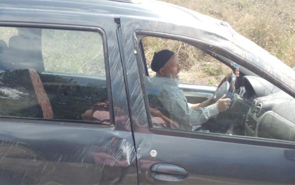 Şoka giren sürücü kazalı araca binip gitme istedi