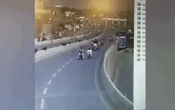 Korkunç kaza! Köprüden aşağı uçtu