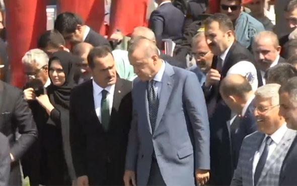 Cumhurbaşkanı Erdoğan'ı Muş'ta bakanlar karşıladı