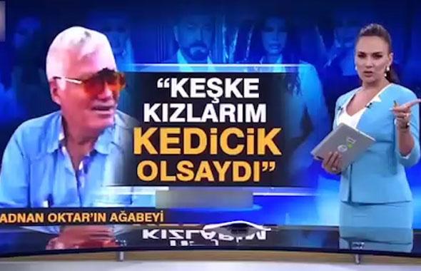 Adnan Oktar'ın ağabeyi Kanal D sunucusunun gazabına uğradı!