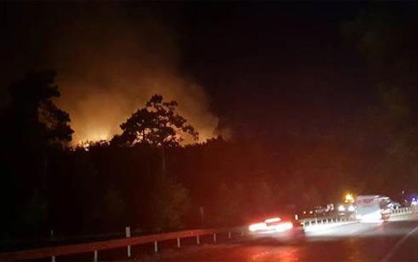 Turizm cennetinde korkutan yangın