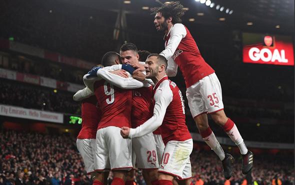 5 gollü maçın kazananı Arsenal oldu