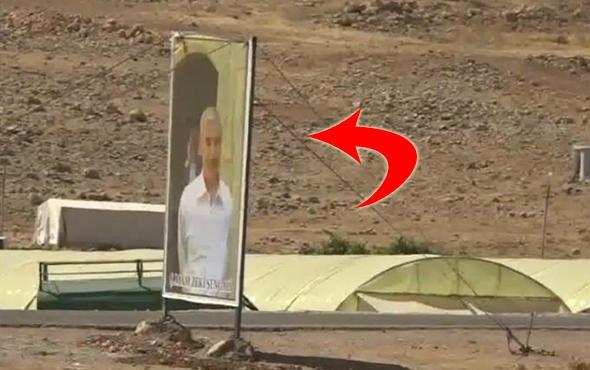 TSK öldürmüştü, fotoğrafını asmışlar! İşte Sincar'daki PKK varlığı
