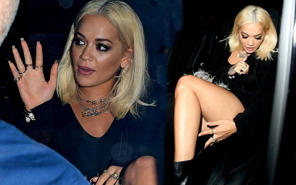 Rita Ora'nın zor anları! Yırtmacının kurbanı oldu