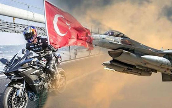 Kenan Sofuoğlu F-16 ile yarıştı! Yarışı bakın kim kazandı?