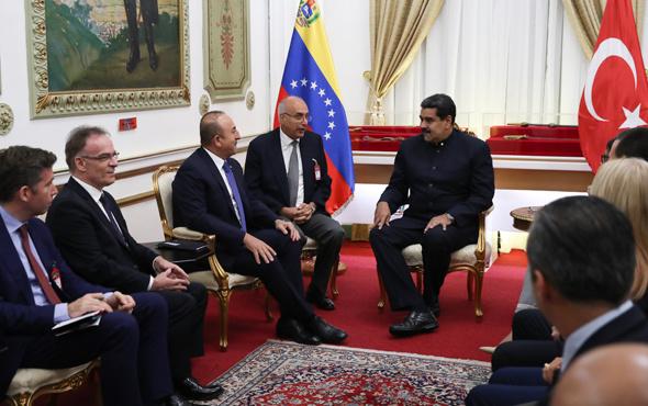 Venezule lideri Maduro ile görüşen Çavuşoğlu'ndan mesaj