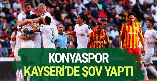 Konyaspor deplasmanda Kayseri'yi devirdi