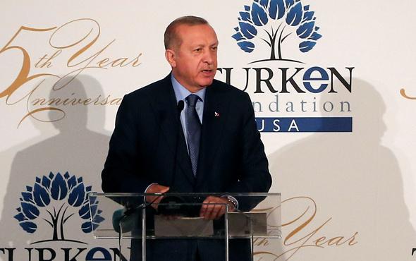 Erdoğan ABD'de konuştu: Ruhunu 1 dolara satanlar...