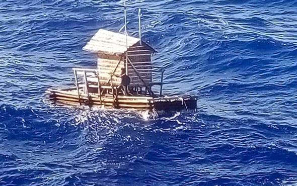 49 gün sonra mucize kurtuluş! Derme çatma salıyla okyanusta bir başına...