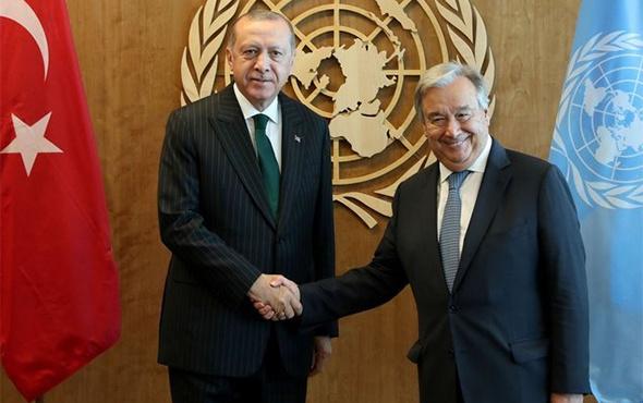 Cumhurbaşkanı Erdoğan, Gutterres ile görüştü