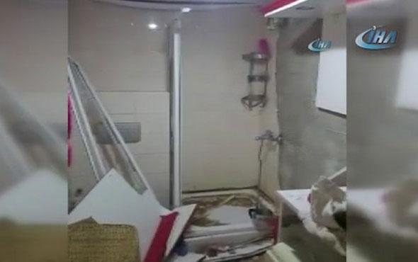 Dehşete düşüren görüntüler! Şiddet gören minik kızın annesiyle yaşadığı eve bakın