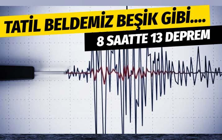 Beşik gibi sallanıyor Kuşadası Körfezi'nde 8 saat içinde 13 deprem
