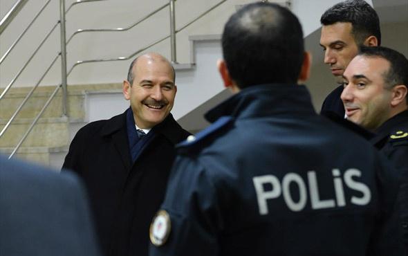 Bakan Süleyman Soylu'dan polis merkezine sürpriz ziyaret