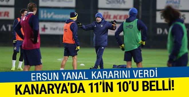 Yanal netleştirdi: Fenerbahçe'de 11'in 10'u belli!