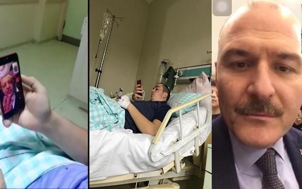 Cumhurbaşkanı Erdoğan ve Bakan Soylu lösemi tedavisi gören genci telefonla aradı