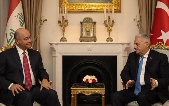 Yıldırım, Irak Cumhurbaşkanı Salih ile görüştü